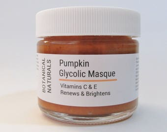 Pumpkin Glycolic Face Mask, Antioxidant Vitamin C & E, Facial Skin Care