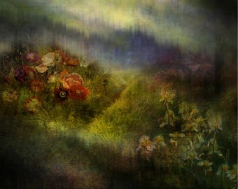 Downloadable Premade Background: Dramatic Flower Meadow