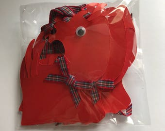 Scottie Dog Gift Tags 10 Tags Red