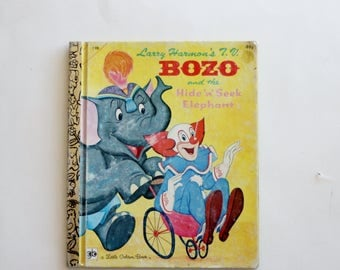 "A Little Golden Book: ""Bozo and the Hide 'n' Seek Elephant"""