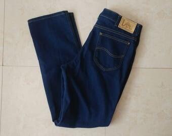 Mens LEE Jeans Pants Size 36 x 34 tall denim dark blue