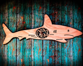 Wooden Shark Monogram