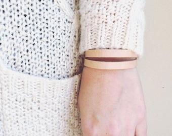 Simple Leather Bracelet For Women, Everyday Bracelets, Minimalist Bracelet, Simple Bracelet, Cuff Bracelet, Neutral Bracelet
