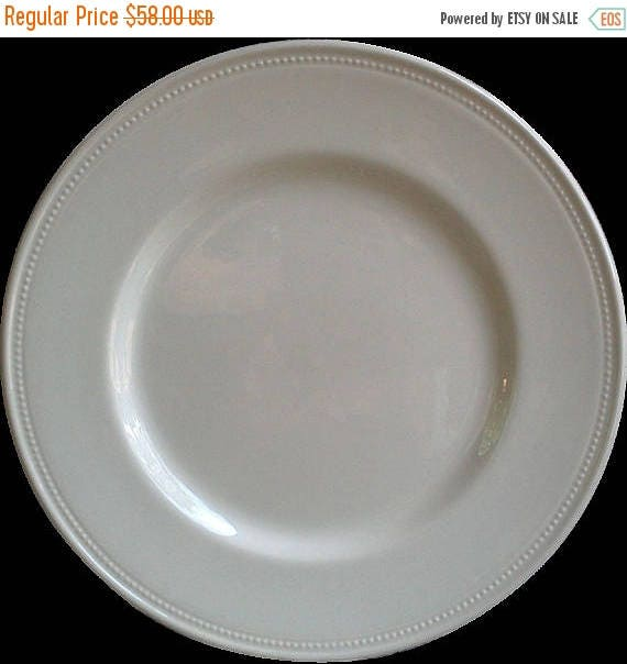 50% off White Earthenware Plate, Charger or Dinner Plate, White China Plate, Charger Plate, Royal Stafford, French Country Plate, White Chin