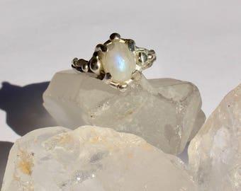 Moonstone night ring