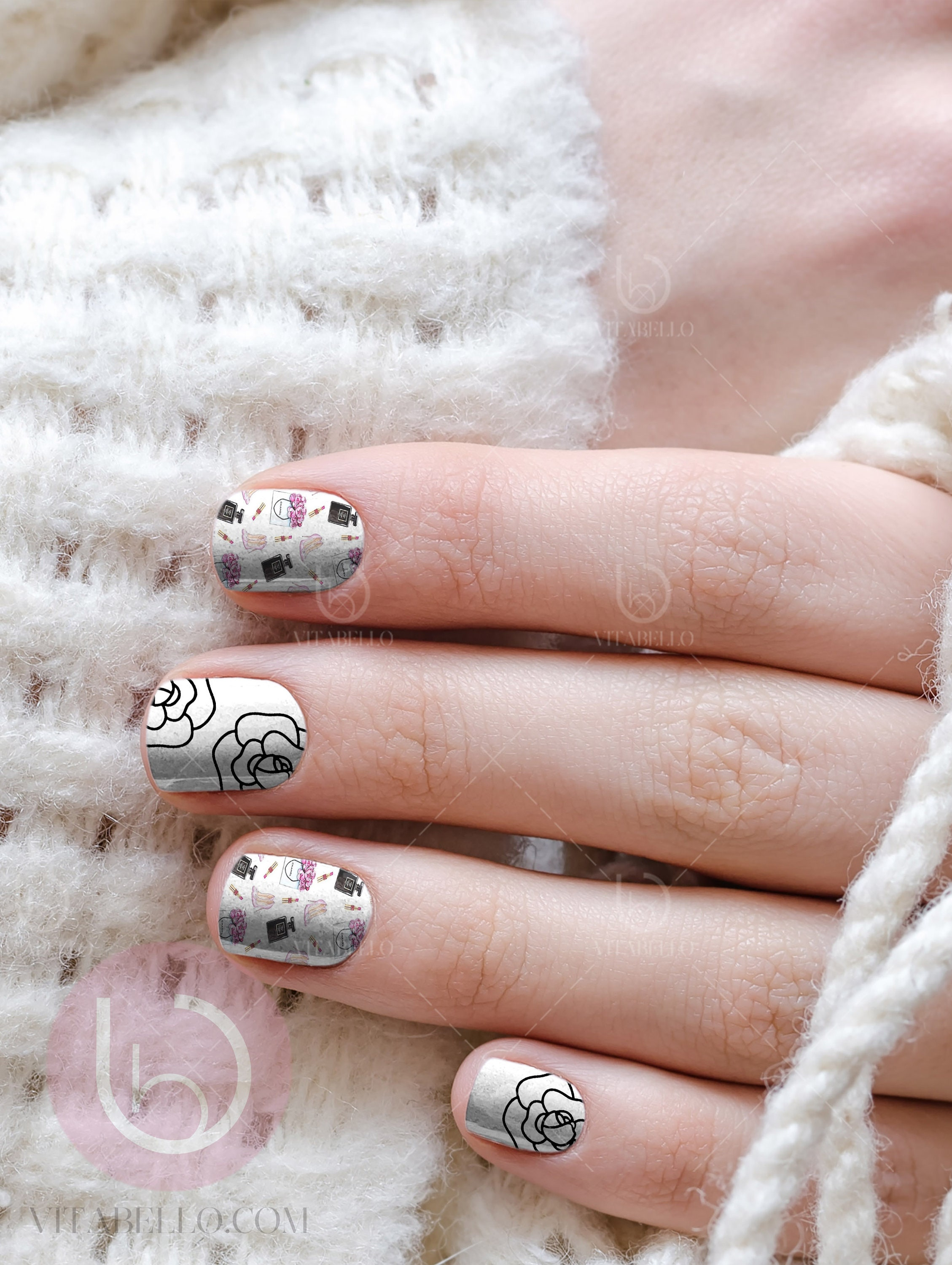 Co co water decal nail design nails press on nail decal nail 499 prinsesfo Image collections