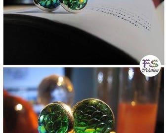Mermaid tail scales earrings. (VARIOUS COLORS)