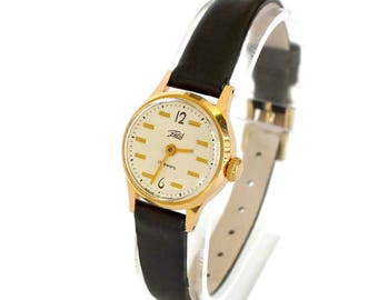 Small Womens Watch Zaria (Dawn). Vintage Russian Women Watches. Gold Plated Womens Watches. Rare Mechanical 70s Watch For Women. Retro Watch