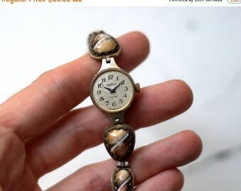 "ON SALE Soviet watch, Russian watch ,Vintage Watch , enamelled watch , Womens watch ,Mechanical watch ,women's watch ""Chaika"""