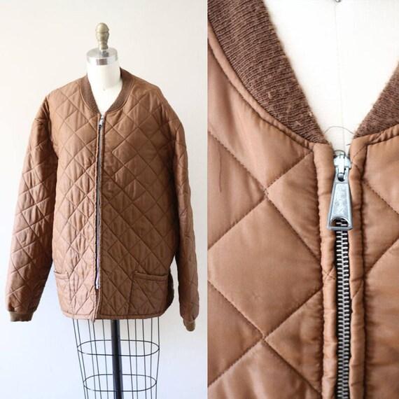 1970s quilted bomber jacket  // quiltedjacket // vintage quilted bomber jacket