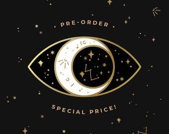 PRE-ORDER enamel space eye pin