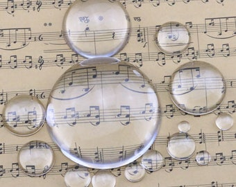 Glass Cabochon glass dome glass insert glass tile round  diameter 6mm-60mm option