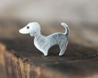 Silver Dog Nose Stud - You Choose the Gauge and the Bend - Artisan Body Jewelry, Nickel Free