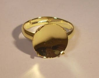 Round Ring holder tray gold claw ring adjustable 19mm and 10mm