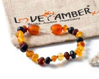 Adult Shingle Raw Mixed Baltic Amber Bracelet