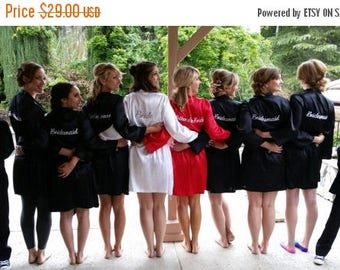 ON SALE Bridesmaid Robes in 25+ Colors for Weddings Bride Robe Wedding Robes Bridal Party Robes Maternity Robe Floral Bridesmaid Robes Satin