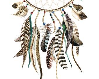 Dreamcatcher feather Save the Dates Digital Printable Boho Bohemian destination Ibiza wedding casual