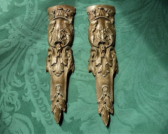 Antique French gilt ormolu mounts