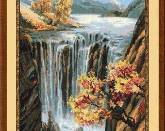 Waterfall - Cross Stitch Kit from RIOLIS Ref. no.:974