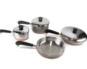 Revere Ware Saucepans and Fry Pan Set
