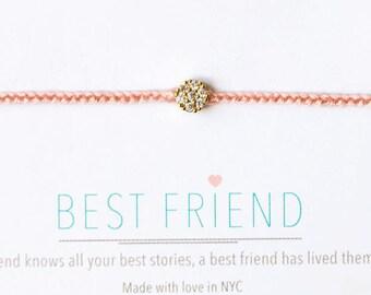 Best friend bracelet, best friend jewelry, Best Friend Gift, BFF Bracelet, Friendship Bracelets, Christmas Gift, Charm Bracelet, B168K-G