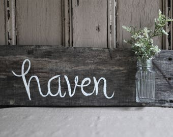 Reclaimed Wood Wall Art, Hand Painted Sign for Home, Pallet Wood
