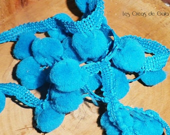 1 x Ribbon synthetic, dark turquoise tassel