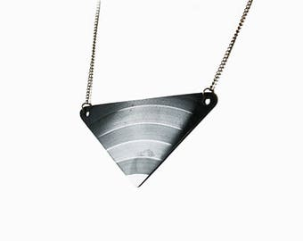 Black Triangle Vinyl Necklace | Original Record | Chevron | Geometric Music Jewellery