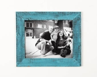 16x20 Barnwood Picture Frame - Turquoise