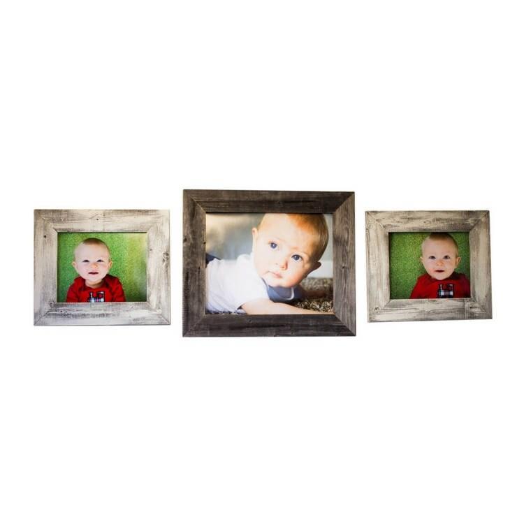 ensemble de 3 cadres photo fabriqu partir de bois de. Black Bedroom Furniture Sets. Home Design Ideas