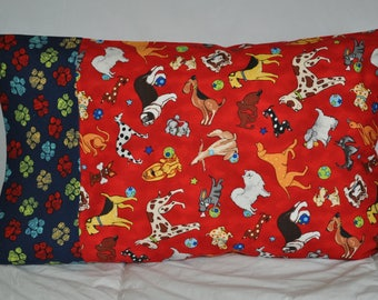 Handmade Travel / Toddler Sz Pillowcase Dogs