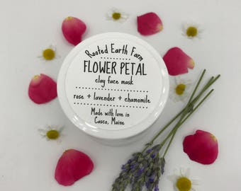 Clay Mask, Acne Mask, Blackhead Mask, Face Mask, Organic Face Mask, Facial Mask, Pore Cleanser, Herbal Mask, Herb Face Mask, Rose Mask