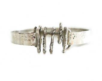 Modernist Menno Meijer Silver Bracelet Holland | Vintage Dutch Mid Century Jewelry | Vintage Silver Bangle Cuff | Dutch Design