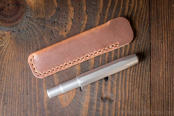 Kaweco Sport pen sleeve - hand stitched Horween leather - natural Dublin