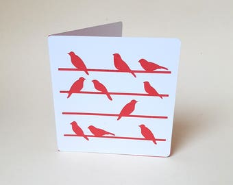 """The card """"Birds"""" red envelope"""
