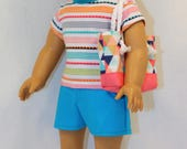 Shorts Outfit and Accessories, 18 Inch Doll Clothing