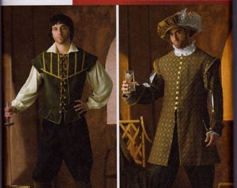 4059 Simplicity Men's Renaissance Costumes Sewing Pattern Sizes XS-XL (30-48)