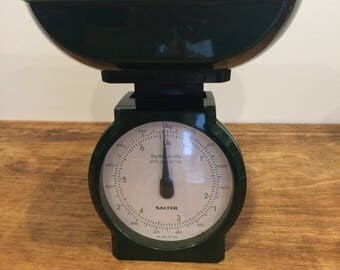 Vintage Salter weighing scales metric and imperial