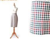 SALE - Plaid Skirt, Small Skirt, Christmas Skirt, Brooks Brothers Skirt, Preppy Clothing, Pencil Skirt, School girl Skirt, Womens Skirt, XS