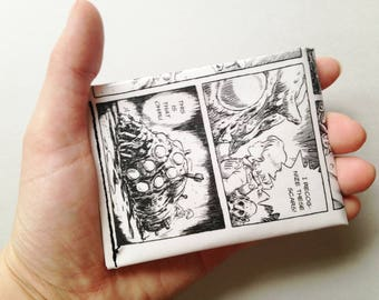 Upcycled Nausicaa of The Valley of The Wind Comic Book Wallet