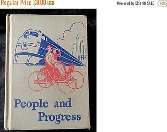 Back2SchoolSale - 1951 Scott, Foresman & Co Basic Reader 6th Grade: PEOPLE and PROGRESS Textbook (1518)
