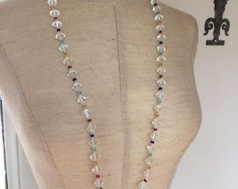 Single Strand Bicone Crystal Bead Necklace