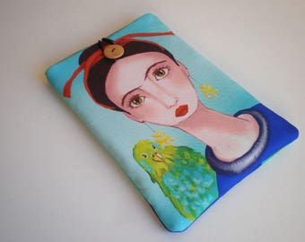 Tablet case, iPad case, iPad Air sleeve, Frida Kahlo, Galaxy Tab sleeve, iPad sleeve, eReader case, Tablet sleeve, iPad sleeve, Kindle case