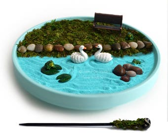 Mini Zen Garden Ocean Desk Accessory Diy Zen Kit