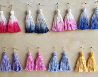 The Pixie Tassel Earrings (multiple colors)