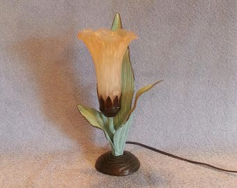 Angels Trumpet Lamp - Up Lamp - Accent Lamp - Floral Themed Lamp