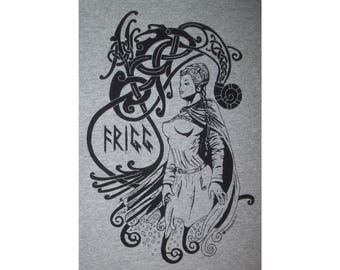 Frigg Frigga Aesir Goddess Rune Norse Heathen Viking T-Shirt BL