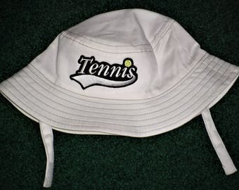 Baby Bucket Hat - Tennis Bucket Hat For Baby Boy Or Baby Girl - Bucket Hats - Infant Hats - White Bucket Hat For Babies - Tennis Fans Hats
