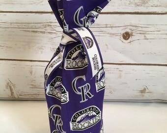 Colorado Rockies wine or bottle gift bag