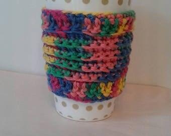 Rainbow eco friendly coffee cup sleeve coffee cup cozy